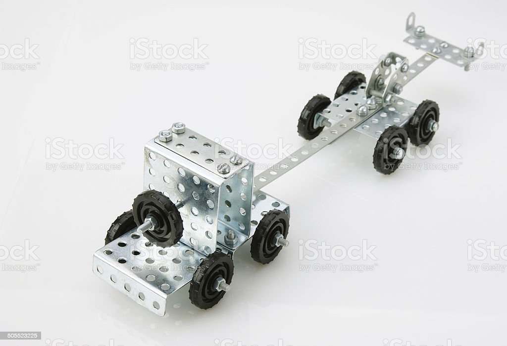truck tractor toy - metal kit for construction royalty-free stock photo