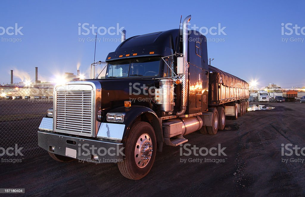 Truck, Tractor Trailer royalty-free stock photo