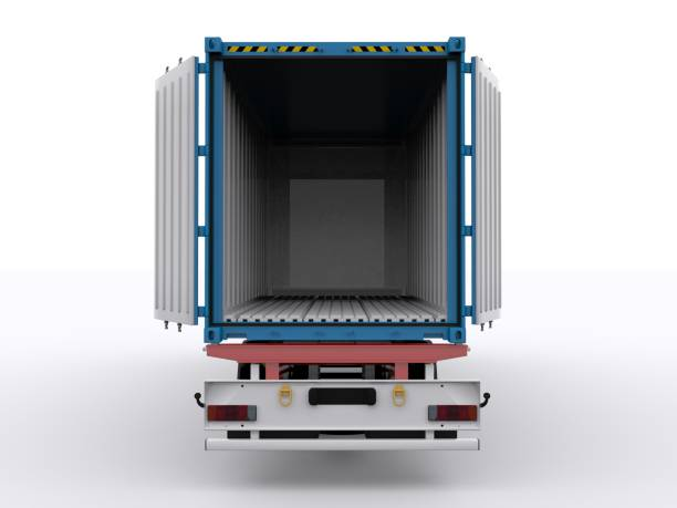 Truck Trailer isolated stock photo