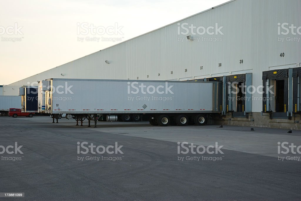 Truck trailer royalty-free stock photo