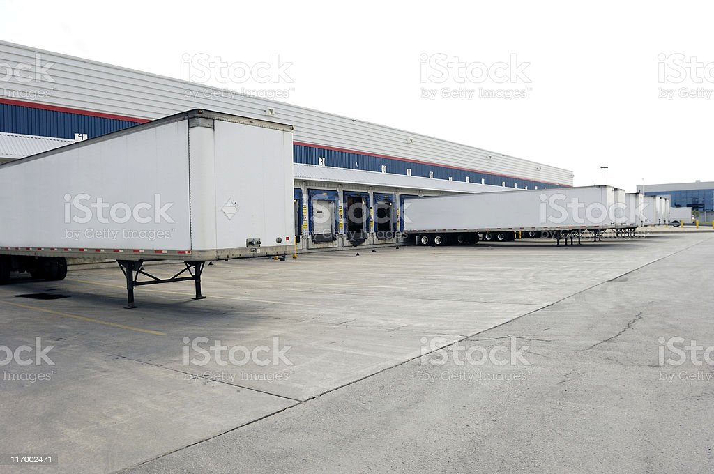 Truck trailers and loading doors royalty-free stock photo