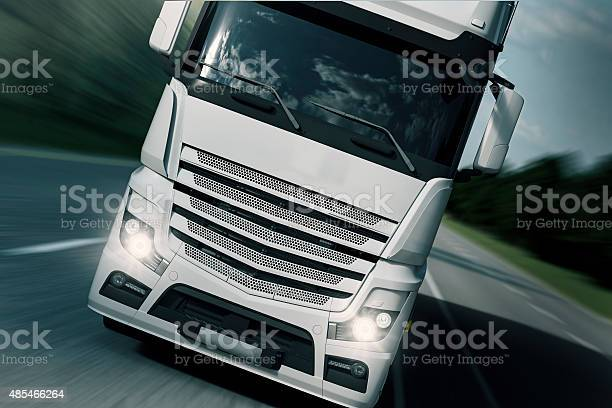 Truck Transport Frontside Stock Photo - Download Image Now