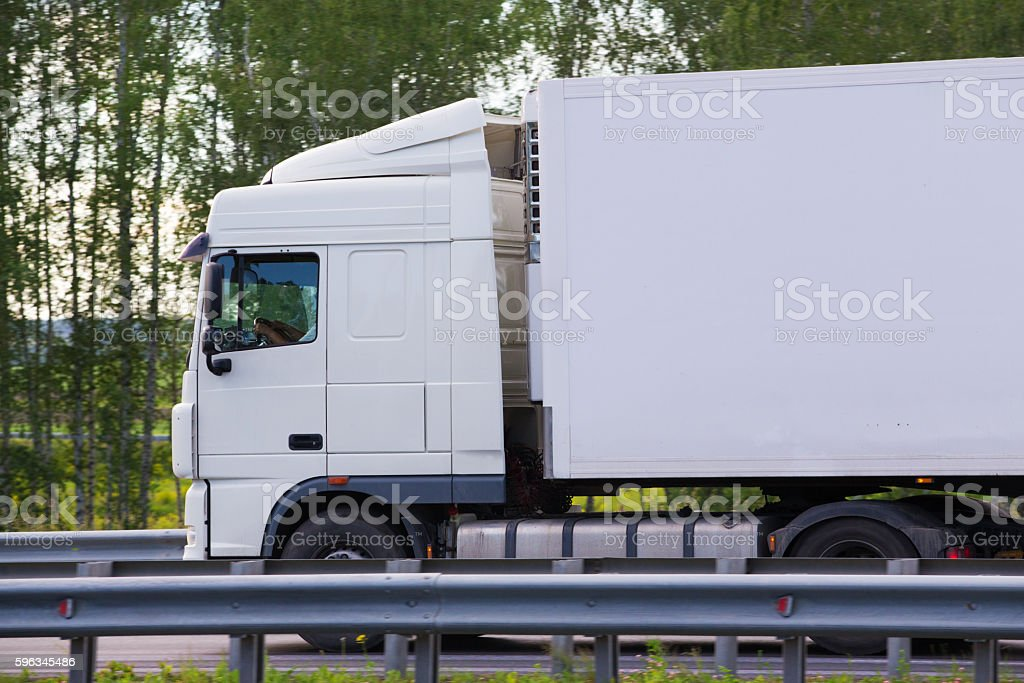 truck transports freight royalty-free stock photo