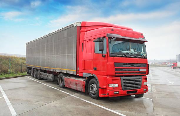 Truck - Trucking, Freight Transport stock photo
