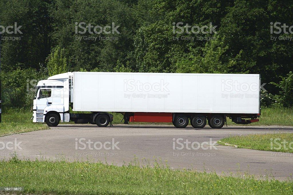Truck: white billboard royalty-free stock photo