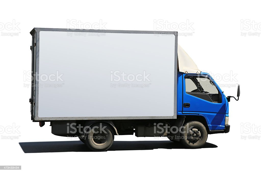 truck with blue cabin stock photo