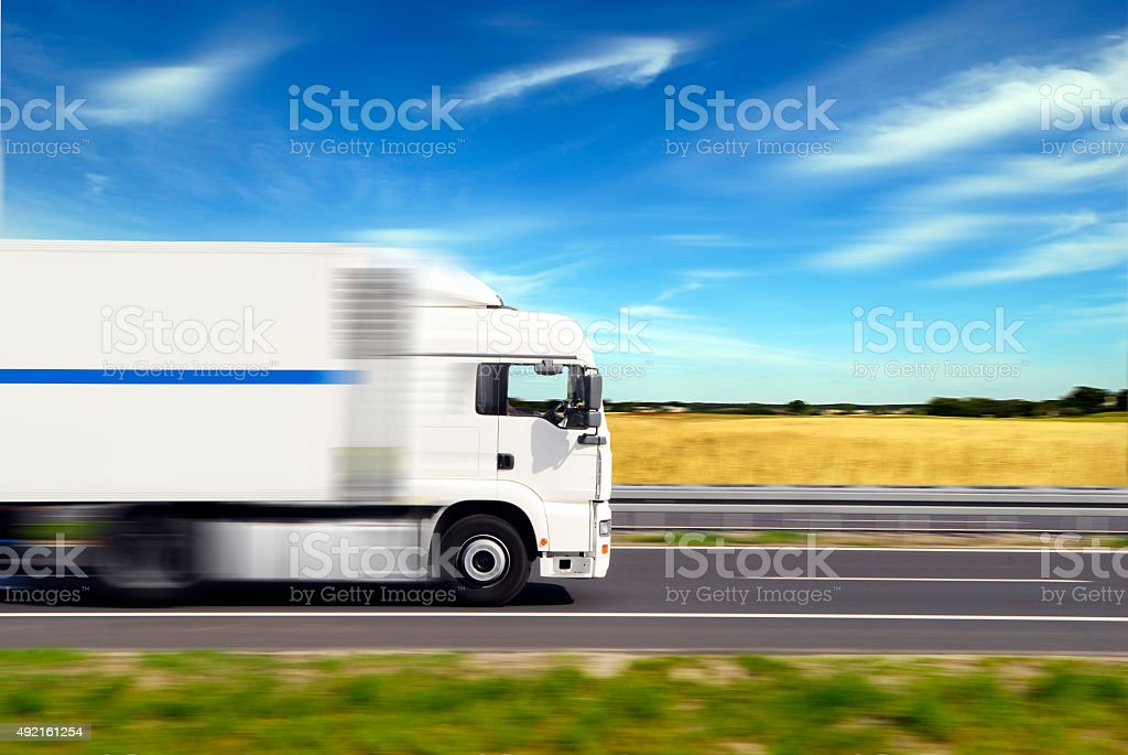 truck with freight stock photo