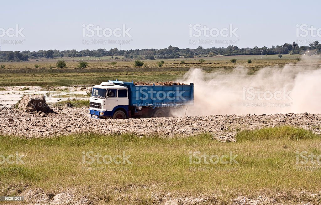 Truck  working royalty-free stock photo