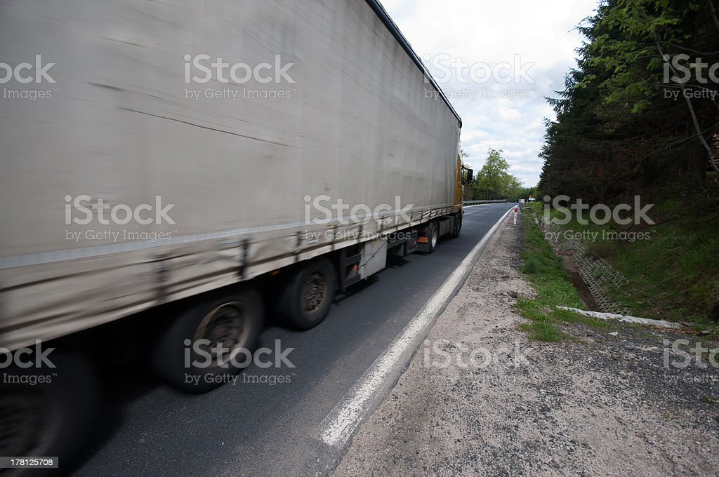 truckcar on the road royalty-free stock photo