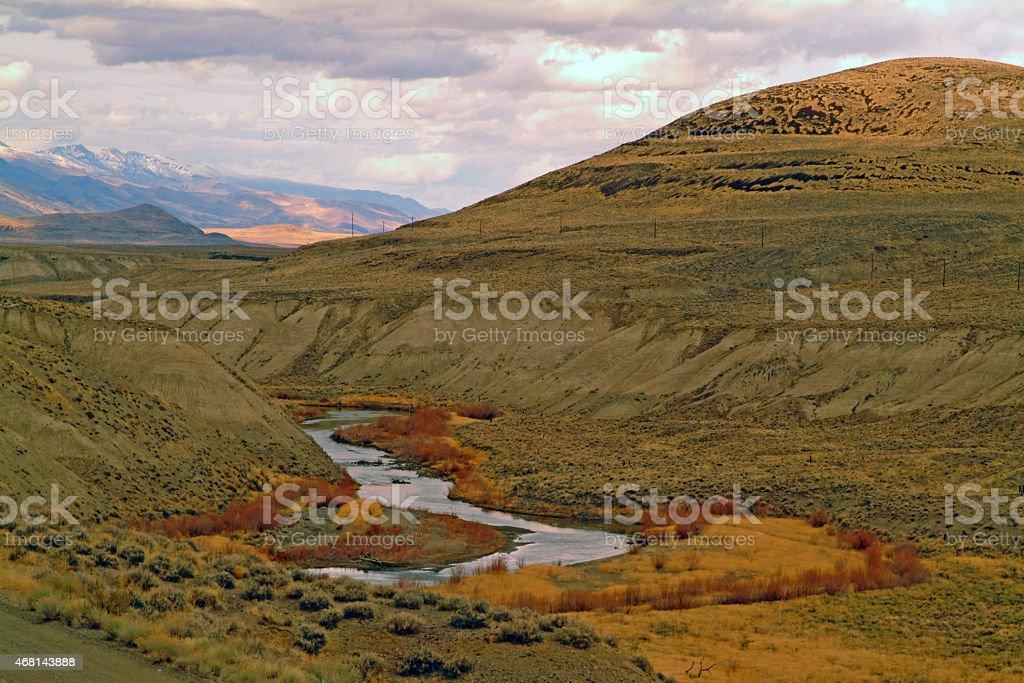 Truckee River, Nevada stock photo