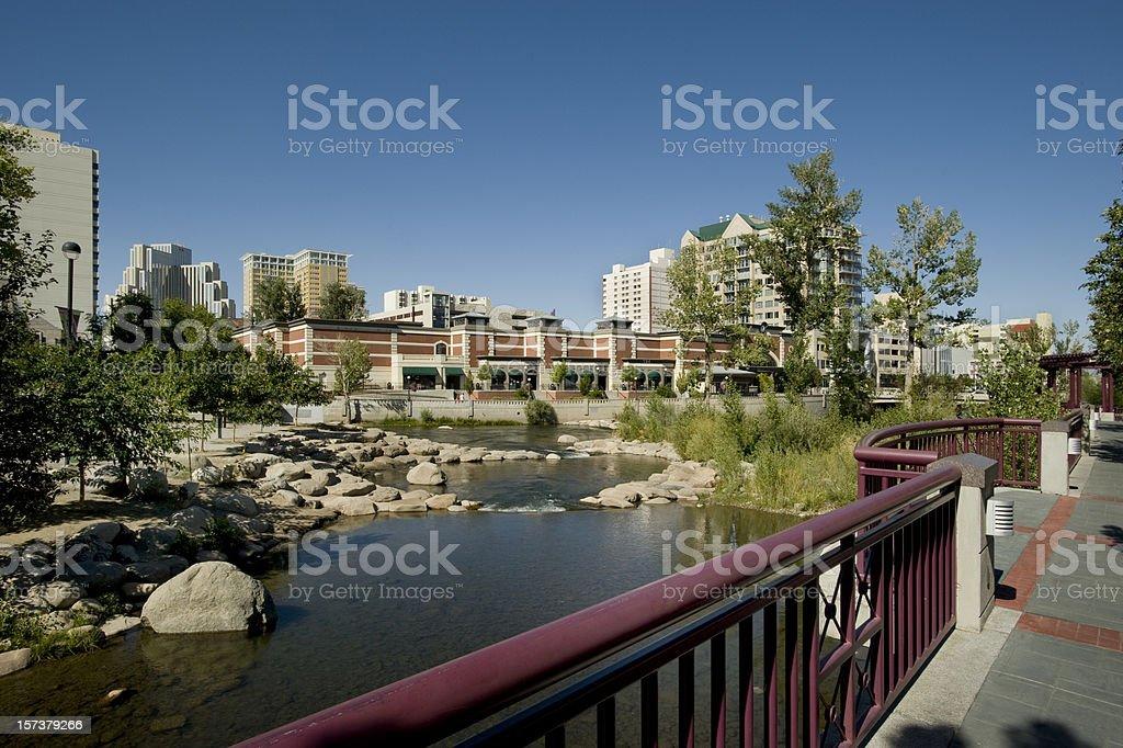 Truckee River, Reno, Nevada royalty-free stock photo
