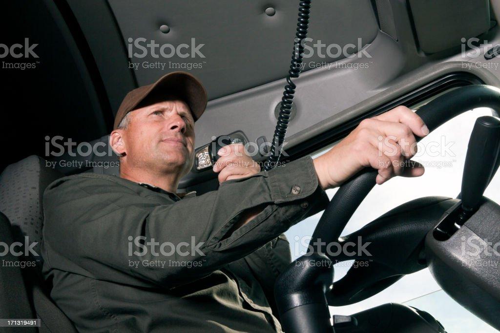 Trucker and CB stock photo