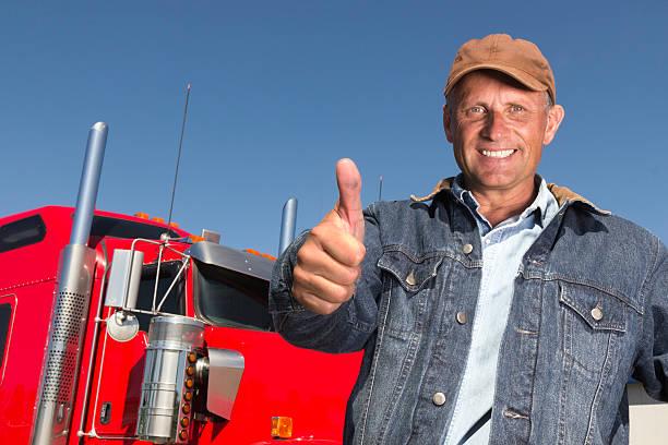 Trucker und Daumen hoch Emotionen – Foto