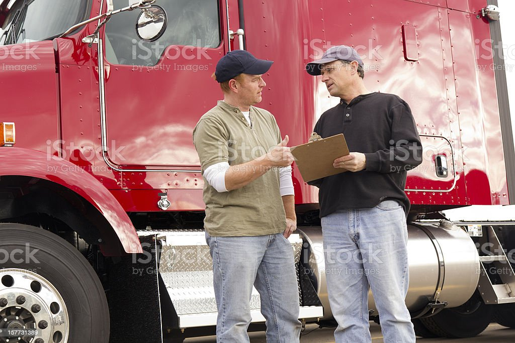 Trucker Review royalty-free stock photo