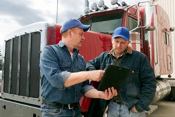 Truckers und Tablet – Foto