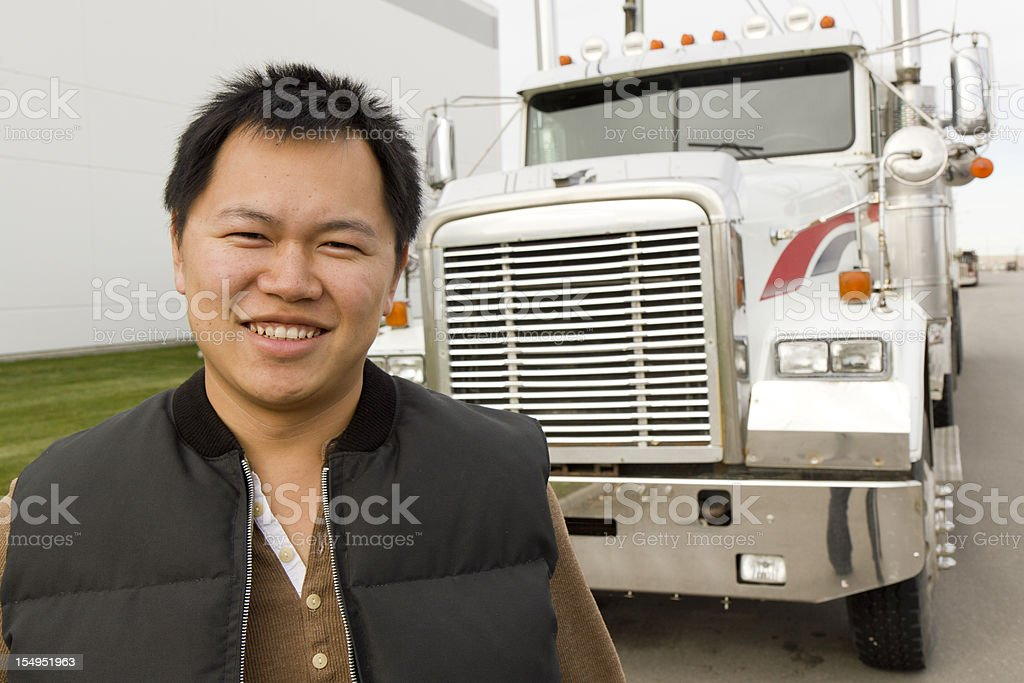 Truckin royalty-free stock photo