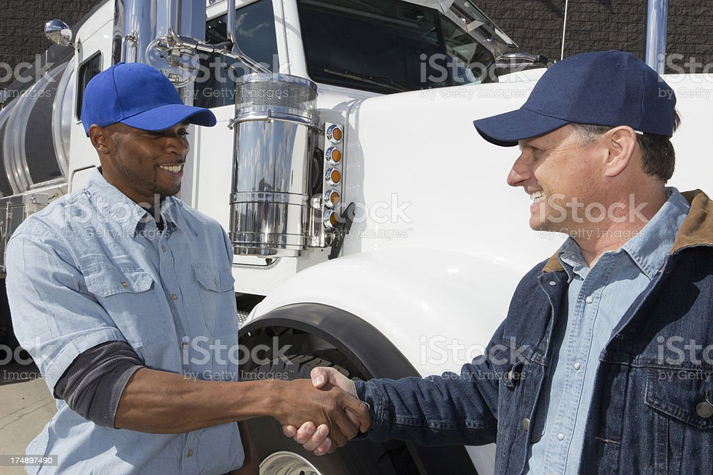 Trucking Agreement royalty-free stock photo
