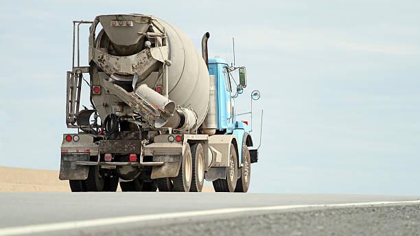Trucking Cement stock photo