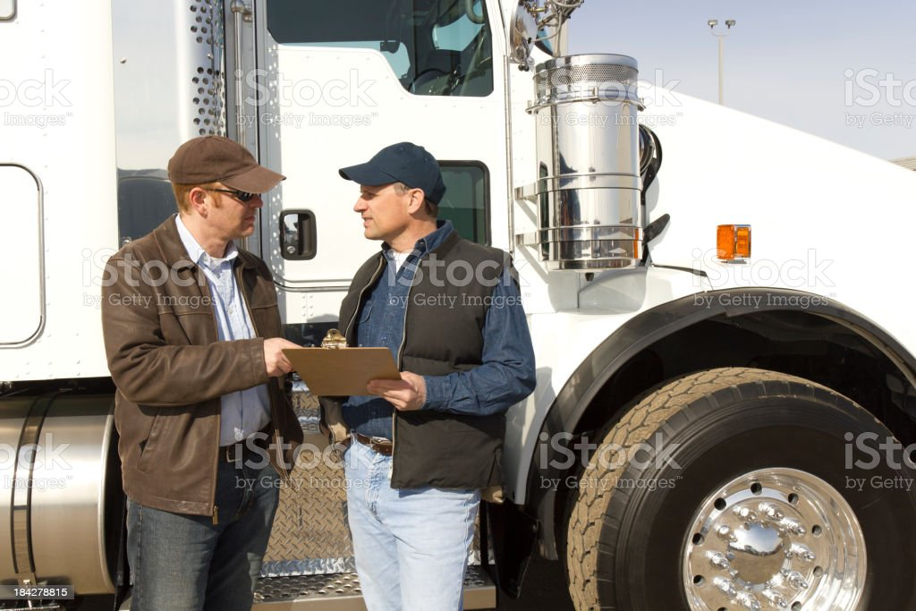 Trucking Discussion stock photo