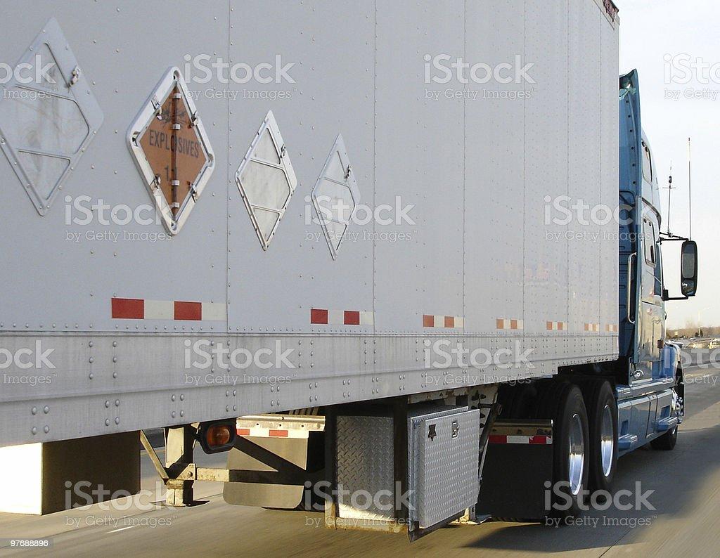 Trucking Explosives stock photo