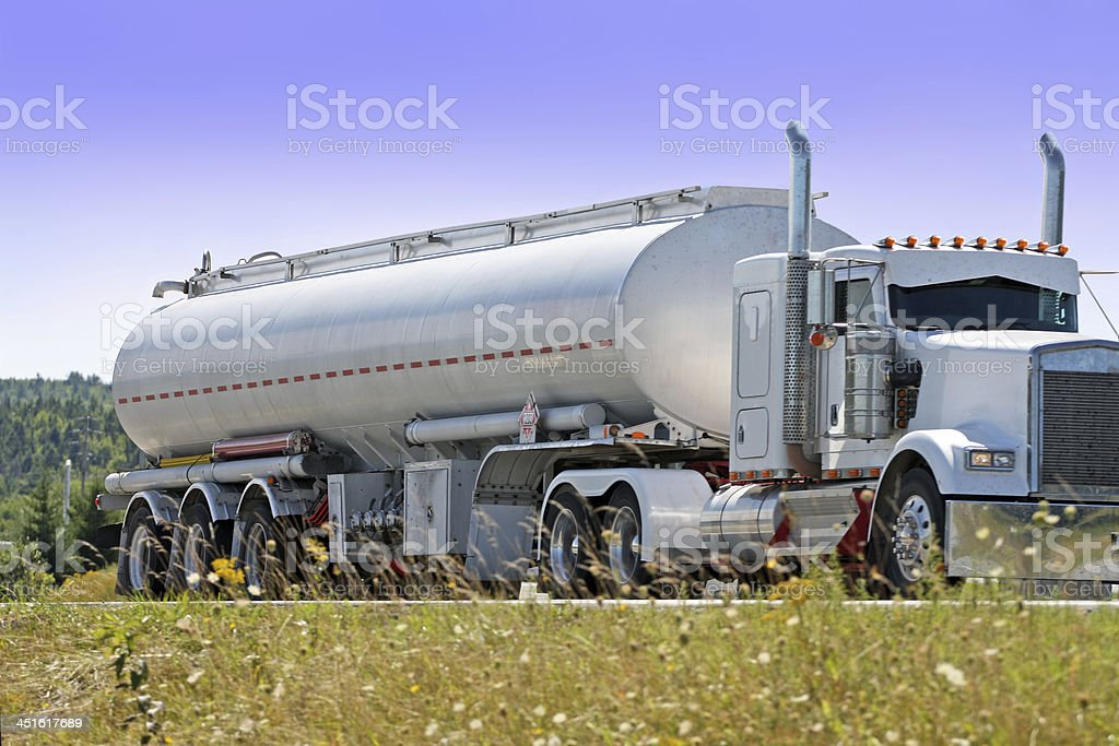 Trucking Gasoline royalty-free stock photo