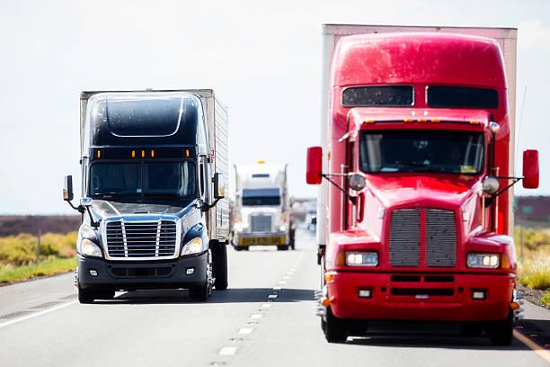 Trasporto-merci via terra settore - foto stock