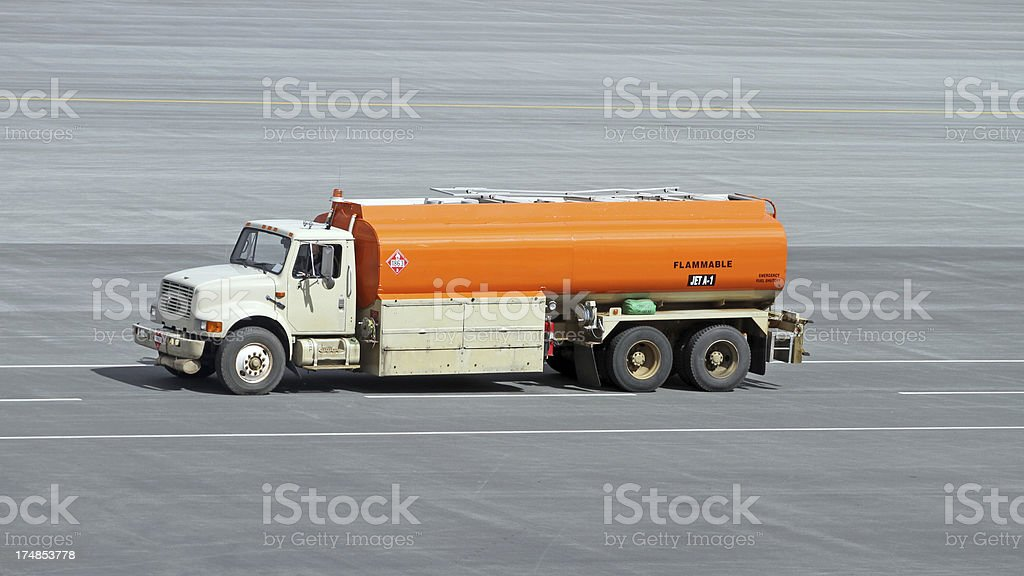 Trucking Jet Fuel royalty-free stock photo