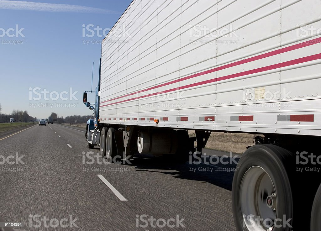 Trucking on down the road royalty-free stock photo
