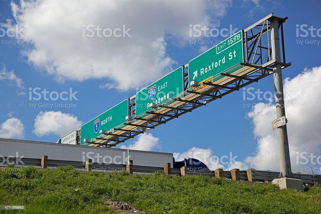 Trucking on Interstate 5 stock photo
