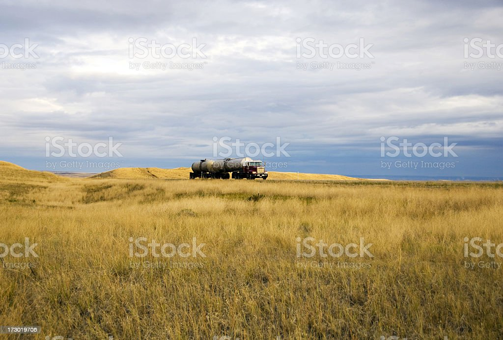 Trucking On the Norther Plains royalty-free stock photo