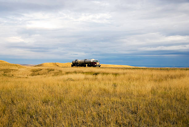 Trucking On the Norther Plains stock photo
