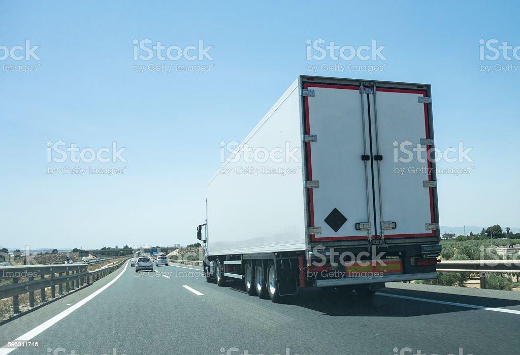 Trucking royalty-free stock photo