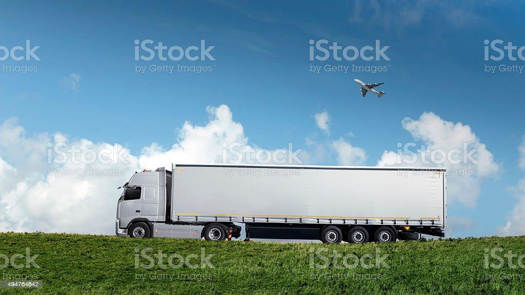 Straßenfracht-Transfer – Foto