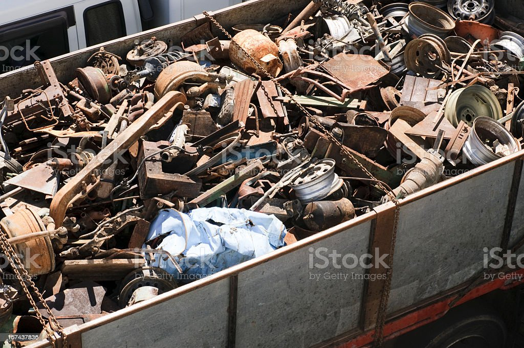Truckload of Scrap Metal royalty-free stock photo