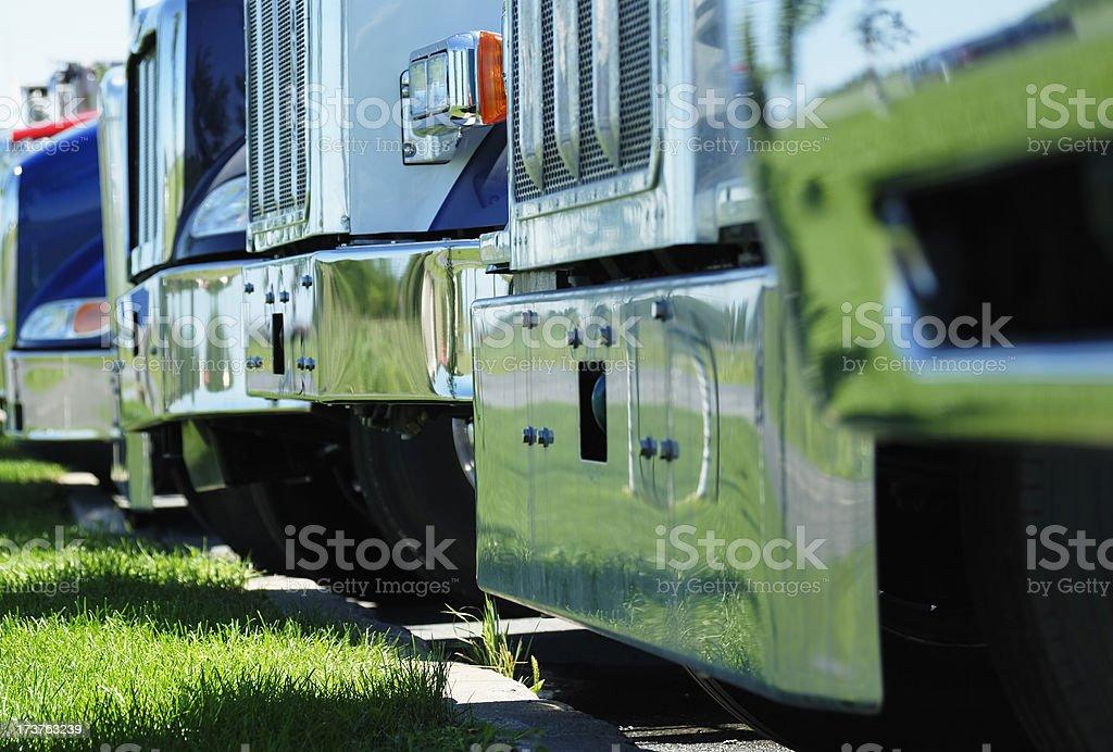 Trucks bumpers stock photo