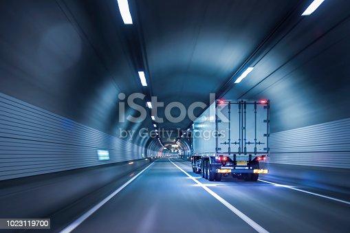istock Trucks passing through tunnels 1023119700