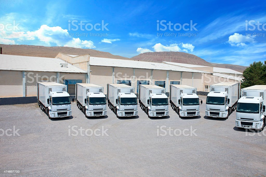 Trucks stock photo