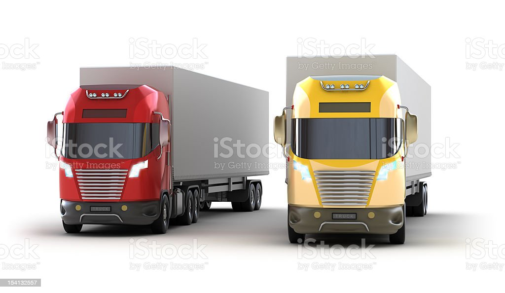 Trucks.Isolated on white royalty-free stock photo