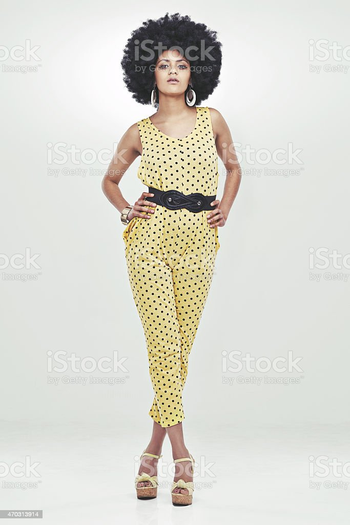 True 70s style and confidence stock photo