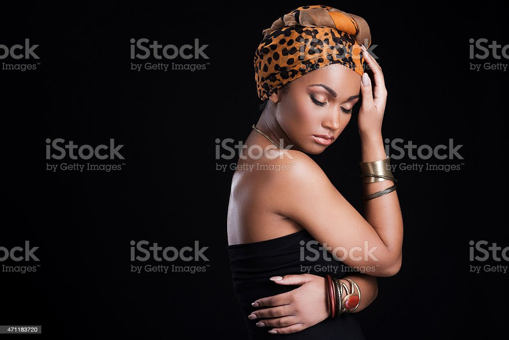 True African beauty. stock photo