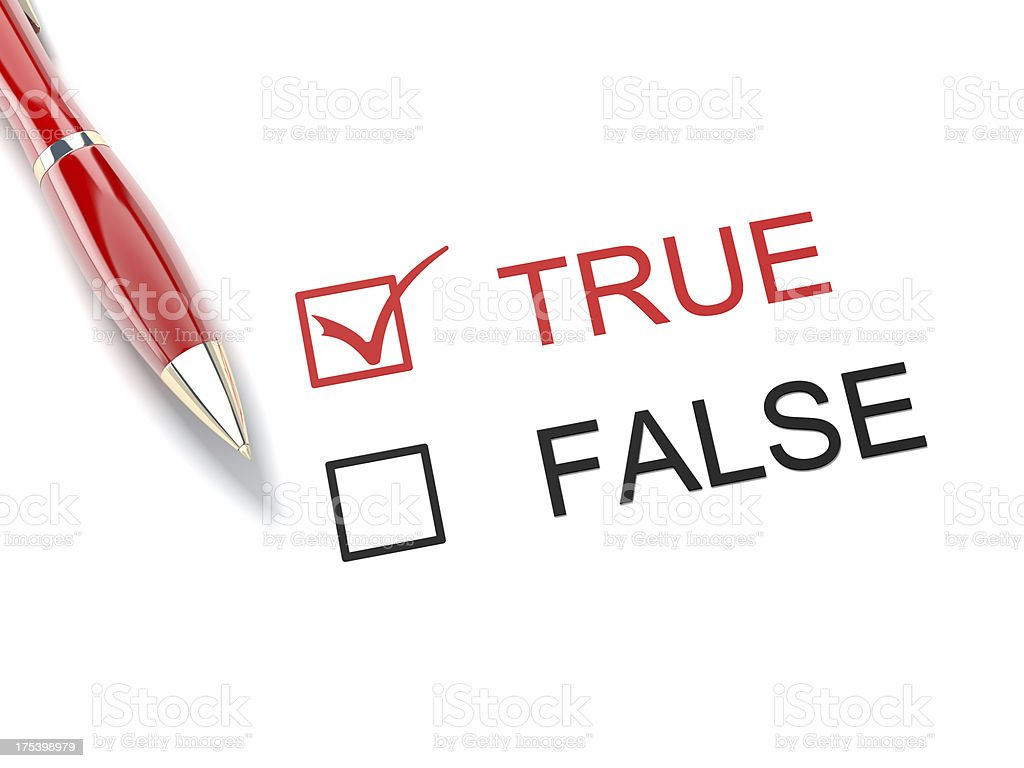 True and False royalty-free stock photo