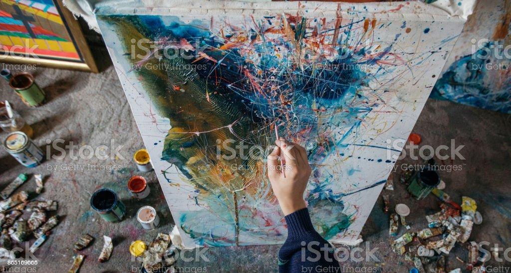 Wahre Künstler - Lizenzfrei Acrylmalerei Stock-Foto