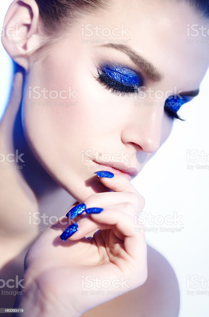 True Blue royalty-free stock photo