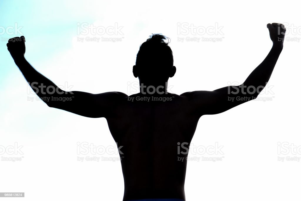 true joy and happiness of success stock photo