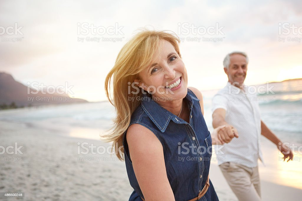 True love keeps the heart young stock photo