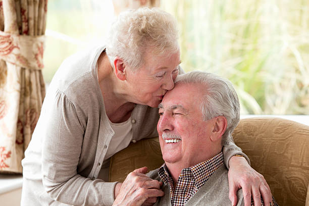 wahre liebe - sexy granny stock-fotos und bilder