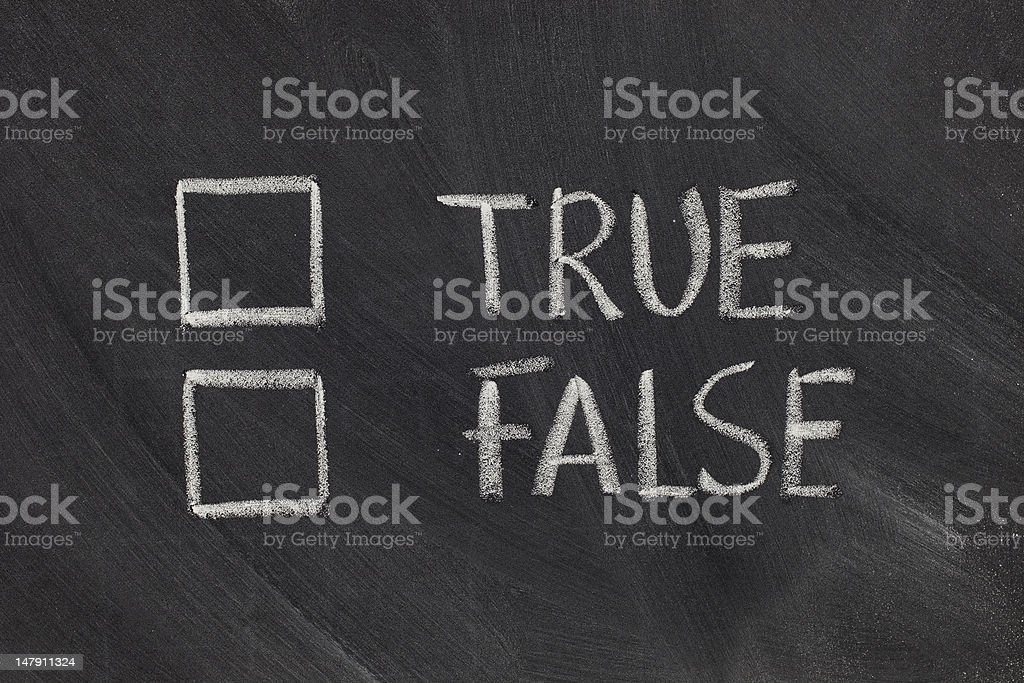 true or false checkboxes - Royalty-free Artificial Stock Photo