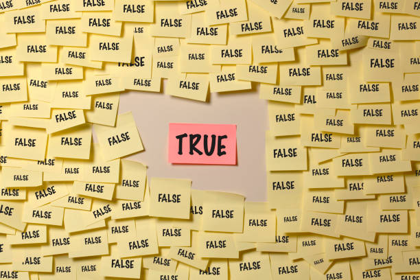 richtig oder falsch - wahre lügen stock-fotos und bilder