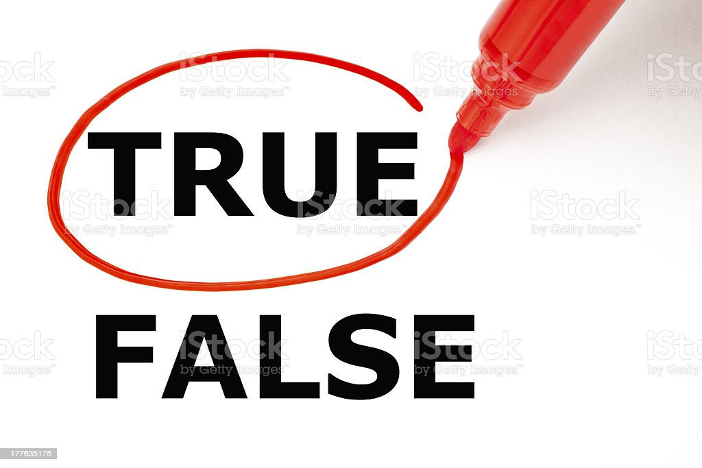 True or False with Red Marker royalty-free stock photo