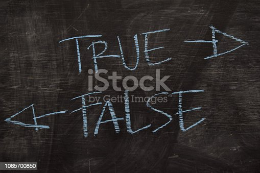 istock True or False written with color chalk concept 1065700850